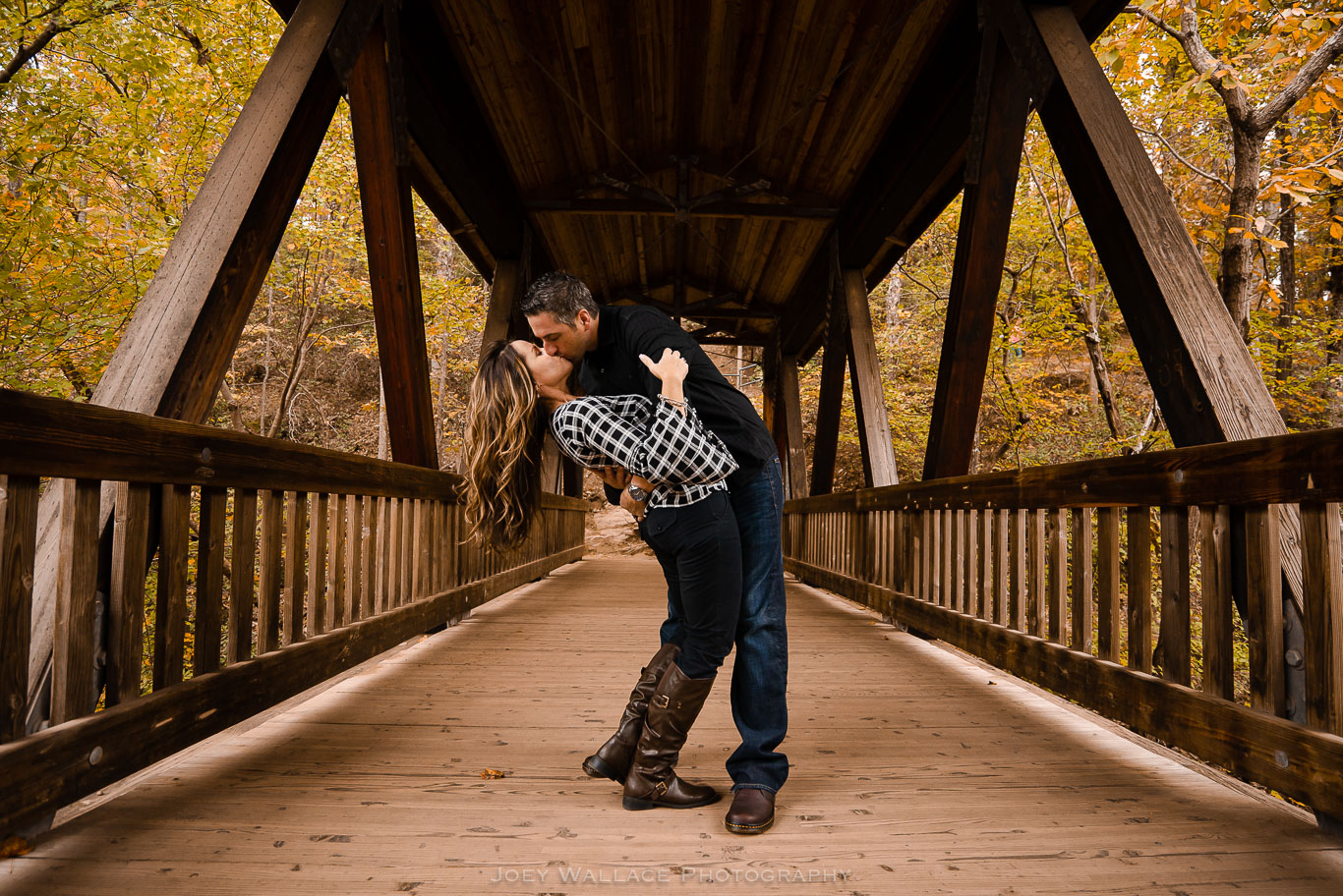 Engagement session at Roswell Mill