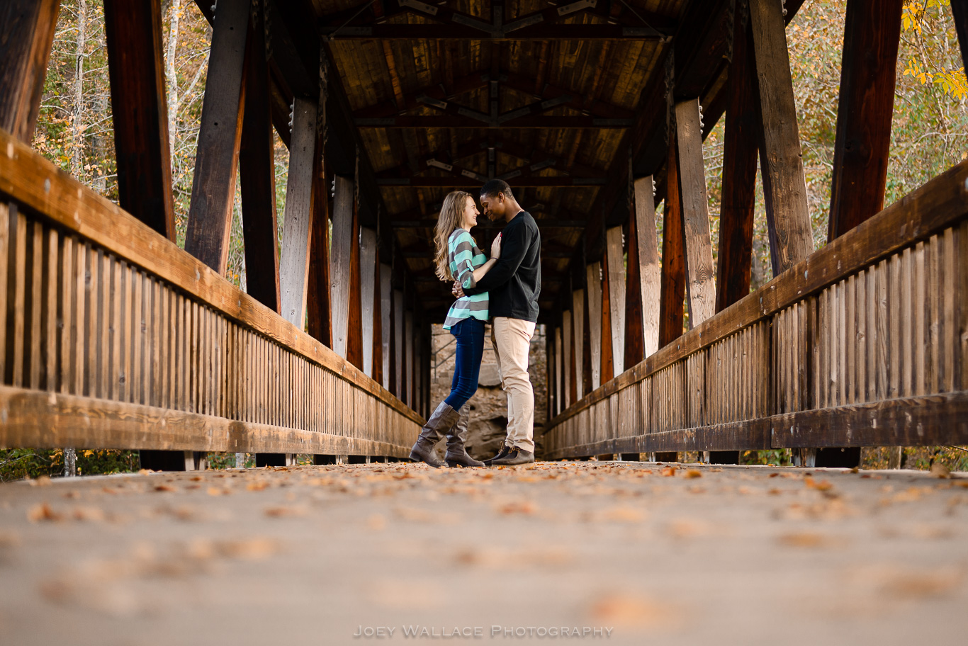 Engagement Session at the Roswell Old Mill Park