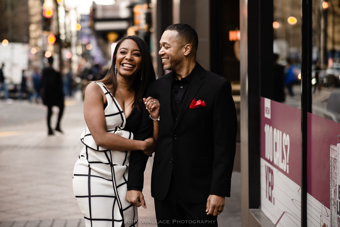 African American Engagement Session in Downtown Atlanta