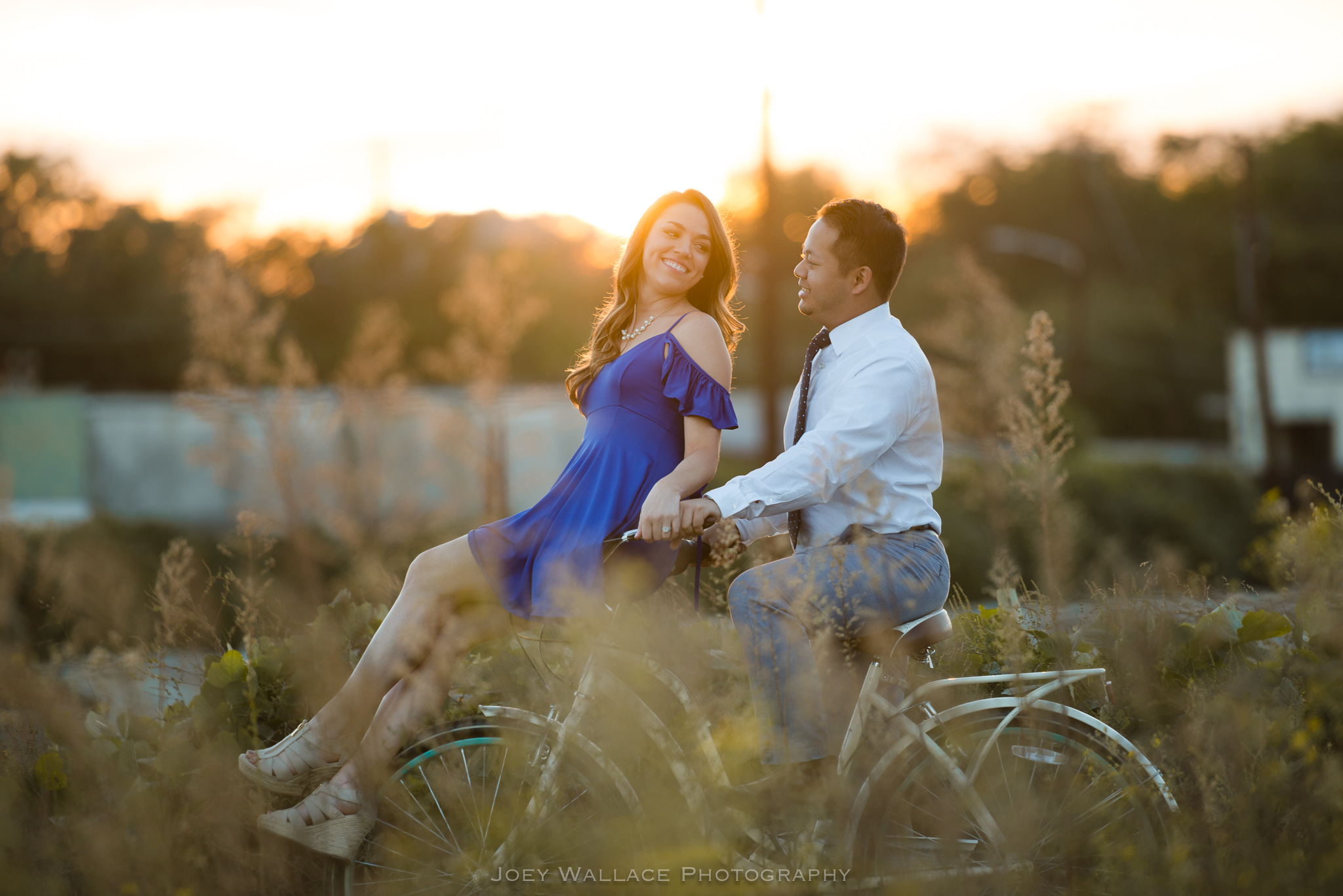 Engagement session at the goat farm in Atlanta