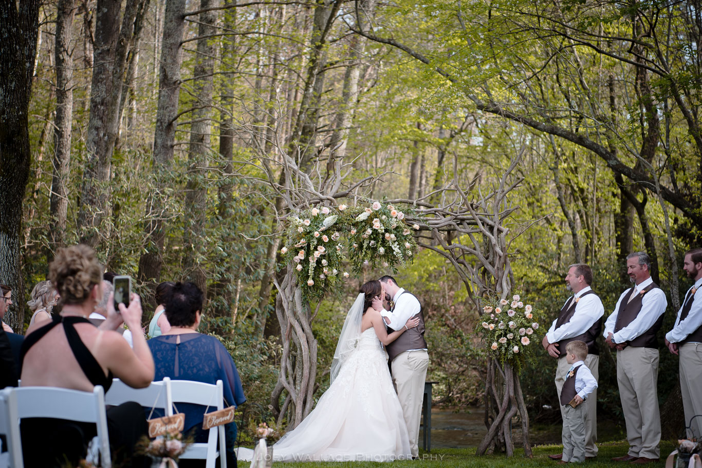 Wedding Ceremony at the Willow Creek Farm in Georgia