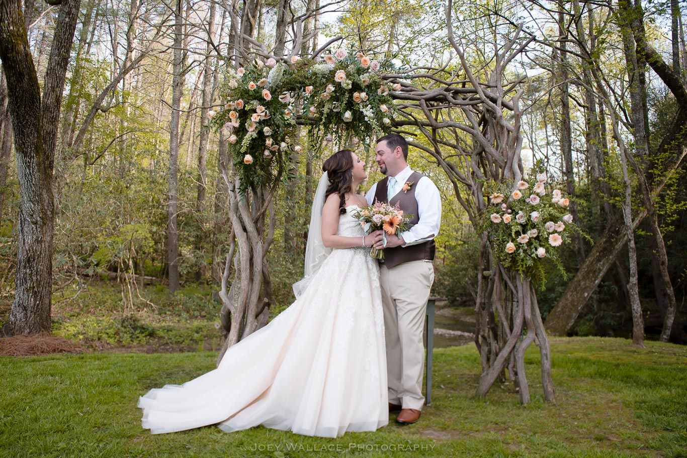 Rustic Wedding Reception at the Willow Creek Farm in Georgia